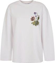 off-white botanical arrows oversized crewneck sweatshirt