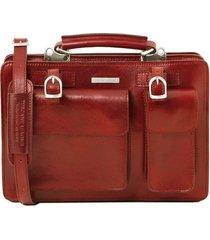 tuscany leather tl141269 tania - borsa a mano in pelle da donna - misura grande rosso