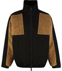 dsquared2 nylon and fleece full-zip jacket
