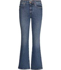 flare jeans wijde pijpen blauw wrangler
