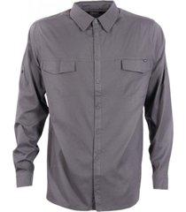 camisa rosselot q-dry shirt l/s gris oscuro lippi