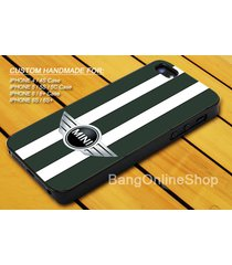 mini cooper racing striped green cover iphone 7 7+ 6 6s 6+ 6s+ 5 5s 5c 4 4s case
