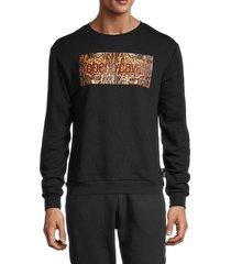 roberto cavalli sport men's logo graphic sweatshirt - black - size l