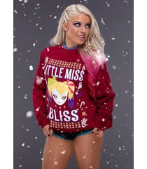 wwe   alexa bliss little miss bliss ugly sweater     2.5 x 3.5 fridge magnet