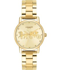 women's coach grand bracelet watch, 28mm