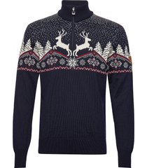 dale christmas masc sweater knitwear turtlenecks blå dale of norway