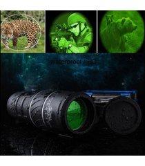 negro zoomable monocular hd low light night telescopio de