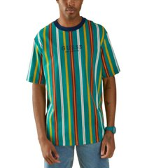 guess men's party striped t-shirt