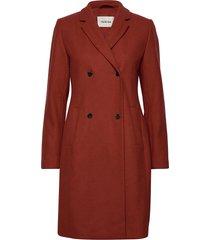 odelia coat wollen jas lange jas rood modström