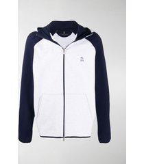 brunello cucinelli jersey zip-through hoodie