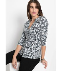 gedessineerde blouse, 3/4 mouw