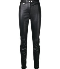3.1 phillip lim leather moto stretch legging - black
