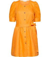 sim korte jurk oranje fall winter spring summer
