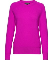 italian merino-blend crew-neck sweater stickad tröja rosa banana republic