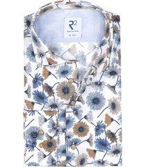 r2 shirt mouwlengte 7 wit bloemenprint