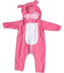 macacã£o pijama porquinho rosa - rosa - dafiti
