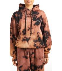 women's bdg urban outfitters longline hoodie, size medium - brown