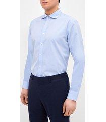 camisa formal microdiseño celeste trial