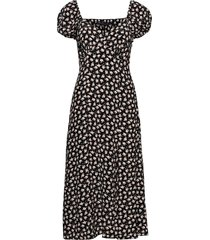aura drape midi dress dresses everyday dresses svart french connection