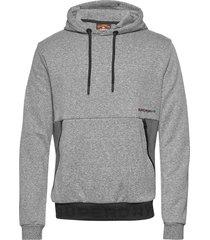urban tech overhead hood hoodie trui grijs superdry