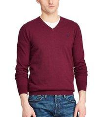 sweater slim fit cotton v-neck burdeo polo ralph lauren