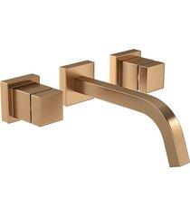 misturador para banheiro parede cubo gold matte 1878.gl86.mt - deca - deca