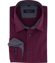 casa moda overhemd comfort fit bordeaux