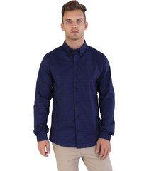 camisa azul marino kout sketh
