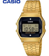 reloj casio unisex ref. a-159wged-1 diamantes naturales - dorado