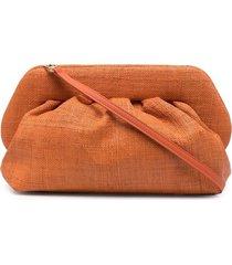 themoirè woven clutch bag - orange