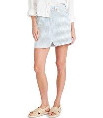 etica lucy stripe cutoff denim skirt, size 28 in malibu at nordstrom