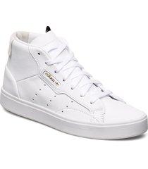 adidas sleek mid w höga sneakers vit adidas originals