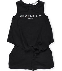 givenchy logo cotton playsuit