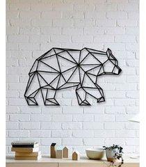 drewniana dekoracja ścienna niedźwiedź 3d