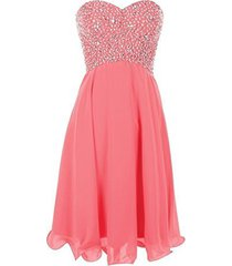 blevla sweetheart sequined short chiffon cocktail prom dress formal gown cora...