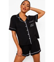 maid of honour pyjama set met knopen en shorts