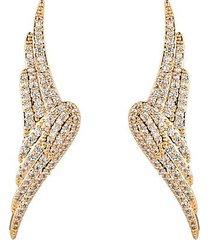 angel wing cubic zirconia drop earrings