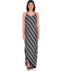 vestido estampado de mujer vestimenta vw174-1117-787 negro