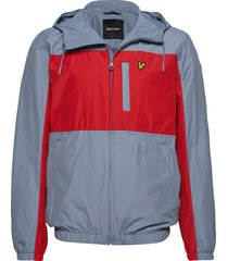 colour block zip through jacket dun jack multi/patroon lyle & scott