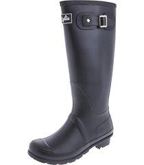botas de lluvia altas wellington bottplie - negro matte