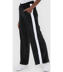 calça fila pantalona plush tape preta