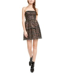 aidan by aidan mattox strapless sequined fit & flare dress
