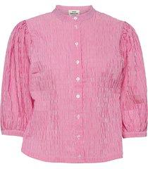 crinckle pop sigga blouse lange mouwen roze mads nørgaard