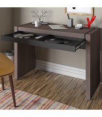 mesa escrivaninha mille 1 gaveta avelã/preto - artany