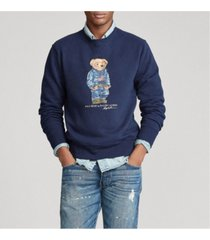 polo ralph lauren men's denim bear fleece sweatshirt