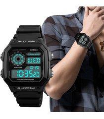 rectangular reloj digital unisexo creativo skmei deportivo