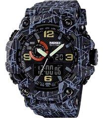 relógio masculino skmei anadigi