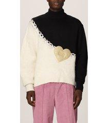 gcds sweater heart gcds sweater in mohair blend