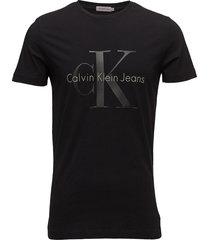 tontro cn tee ss, 09 t-shirts short-sleeved svart calvin klein jeans