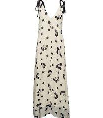 backless printed maxi dress knälång klänning creme 3.1 phillip lim